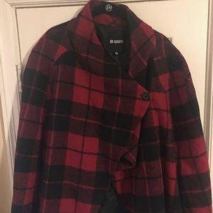 BB Dakota Plus Size Plaid Cape